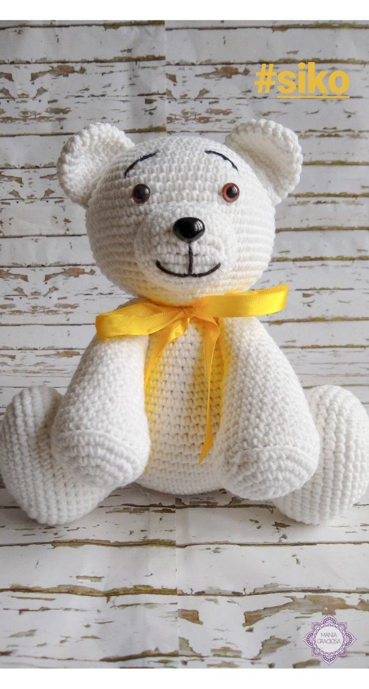 Receita grátis de Amigurumi Urso Polar em crochê (em inglês ... | 1374x736
